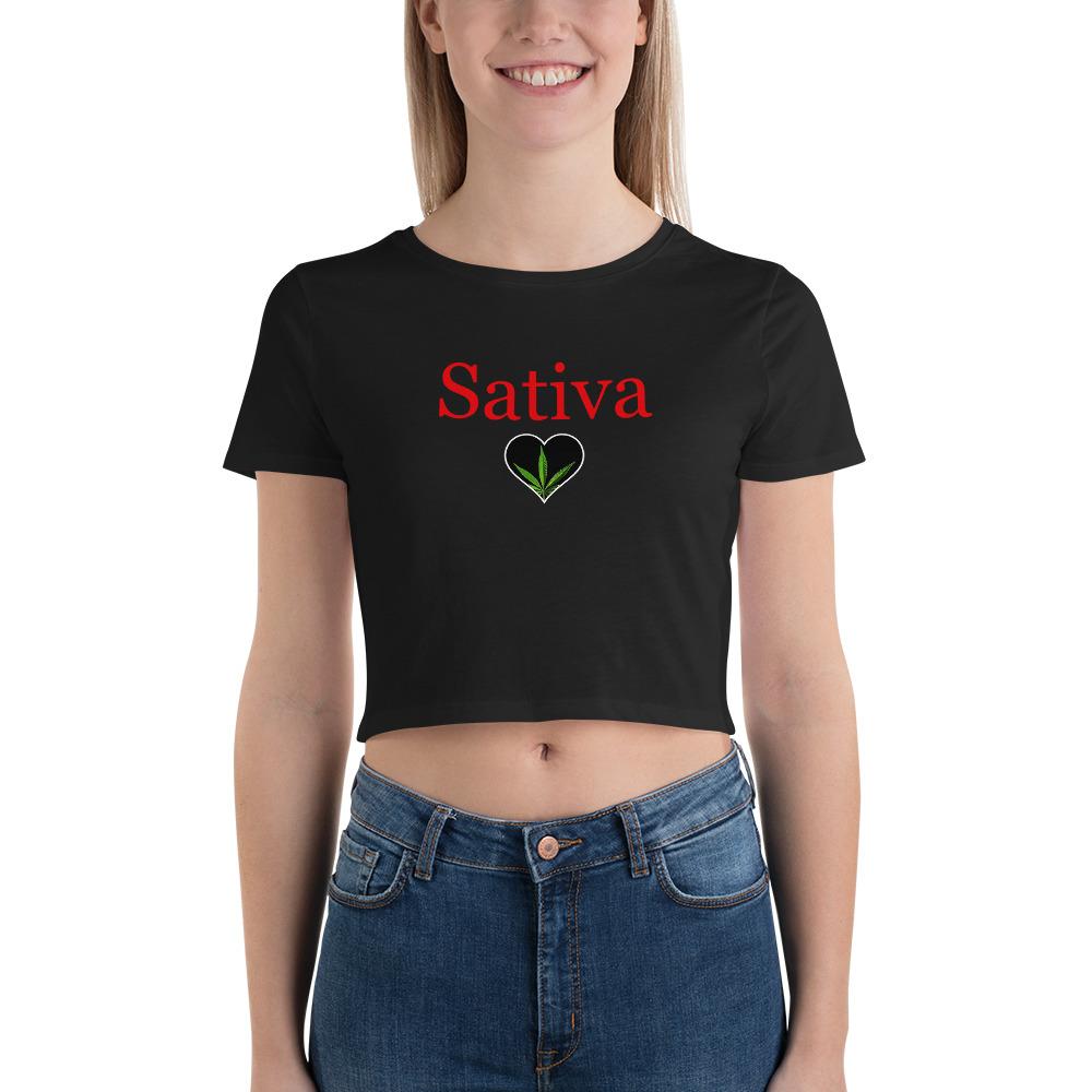 Sativa Women's Crop Tee